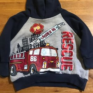 Other - 🛍♻️ 5/$15 Little Rebels Fire Rescue Hoody Size 12